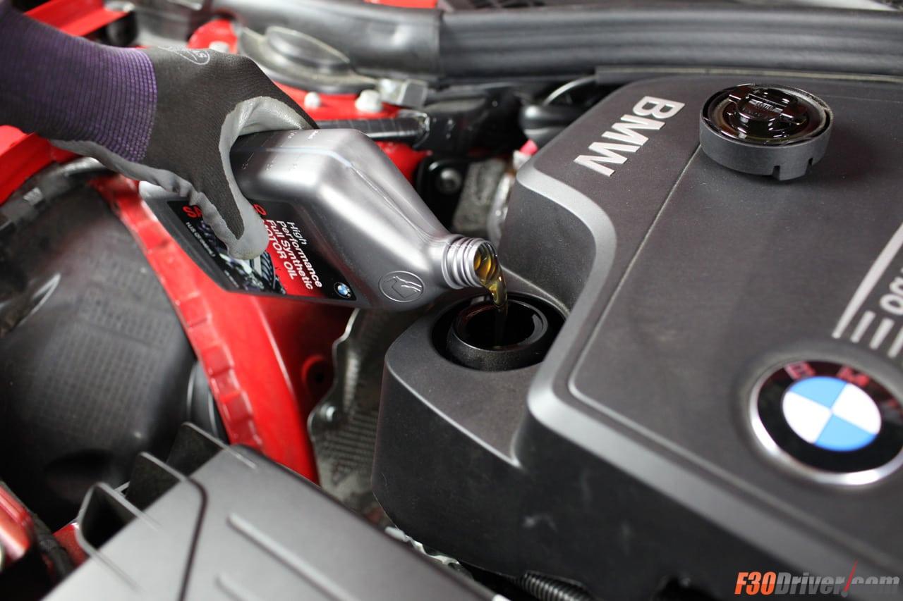 Замена моторного масла в BMW 3 Series F30 328i с двигателем N20 - пошаговое руководство