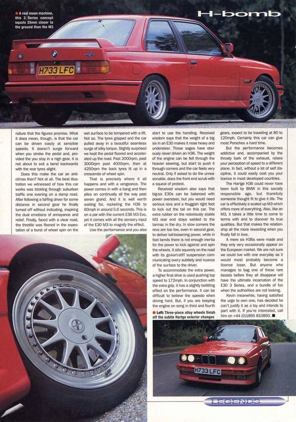 Harthe H36 BMW Car Magazine 1997