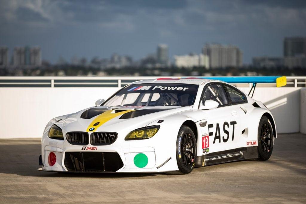 Новый арт-кар BMW на базе M6 GTLM #19 работы Джона Балдессарии сразится в 24 часах Дайтоны