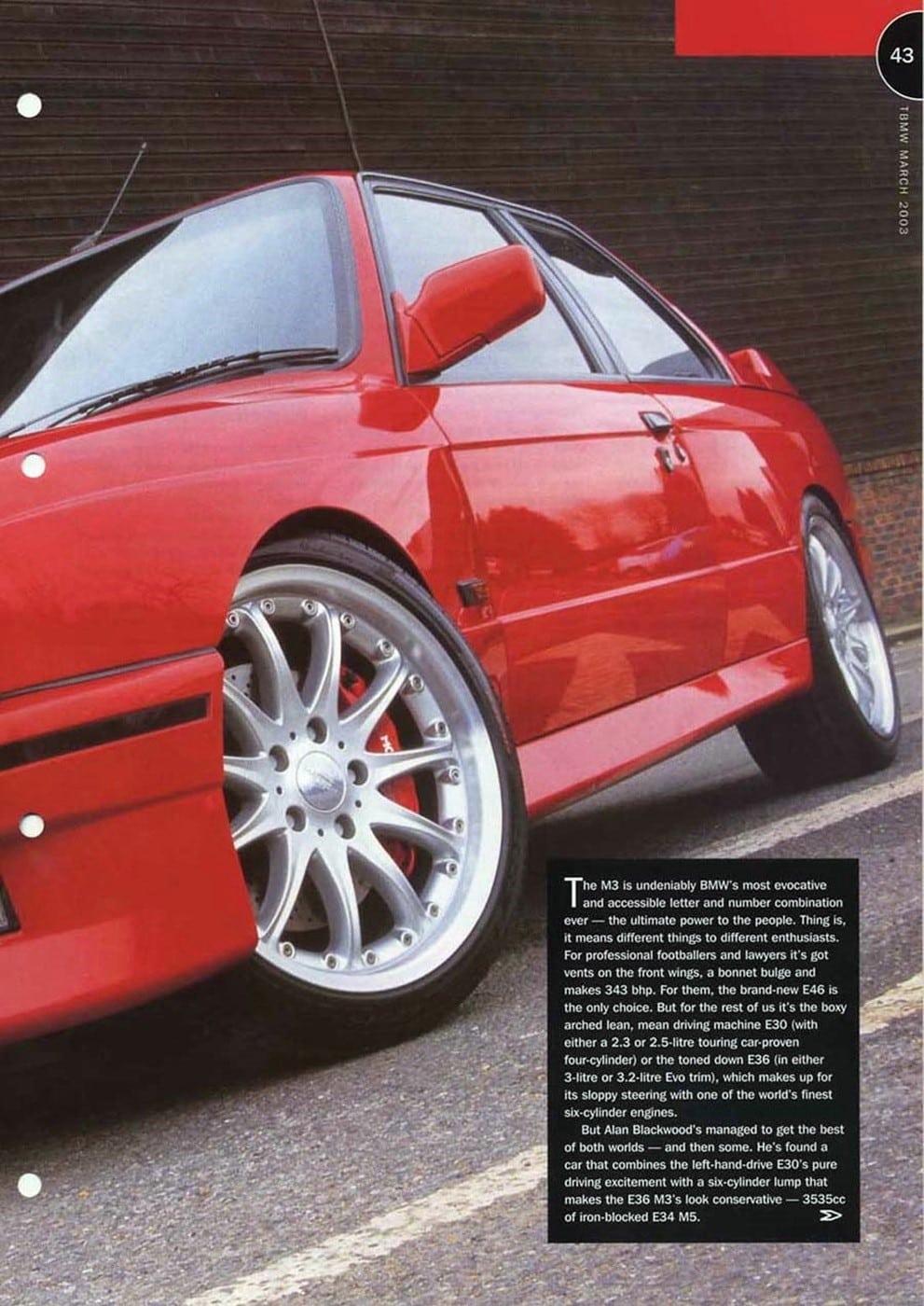 Harthe H36 TBMW Magazine 2003