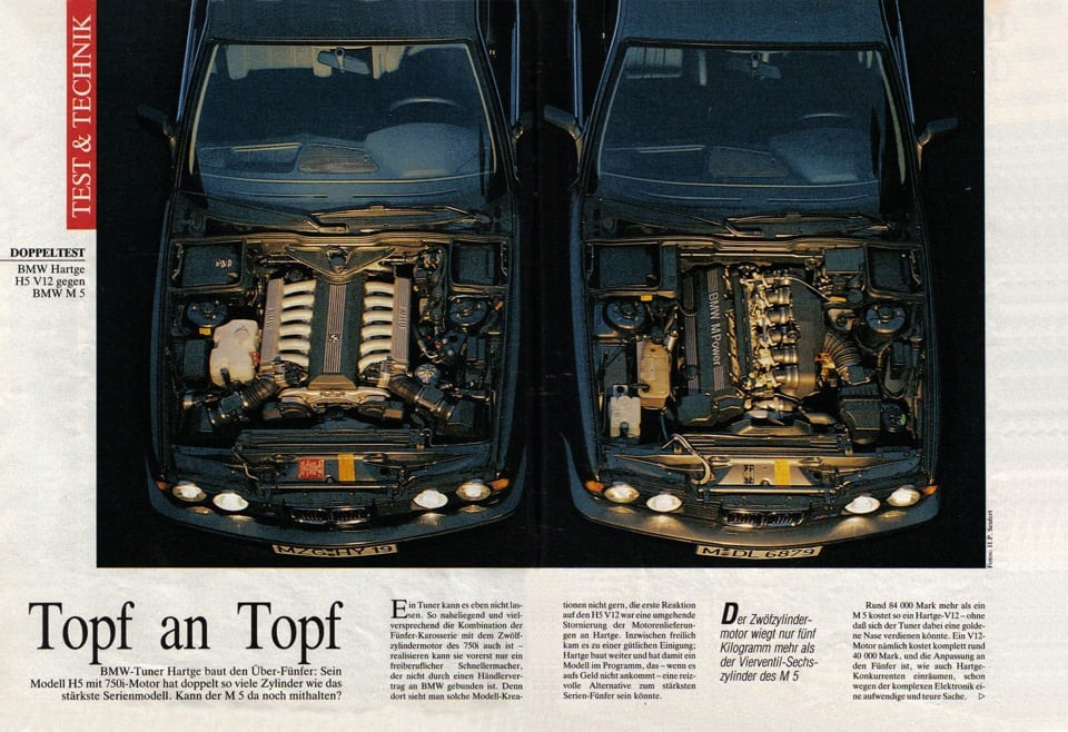 BMW E34 Hartge 6.0 или как маленькое ателье уделало автогиганта