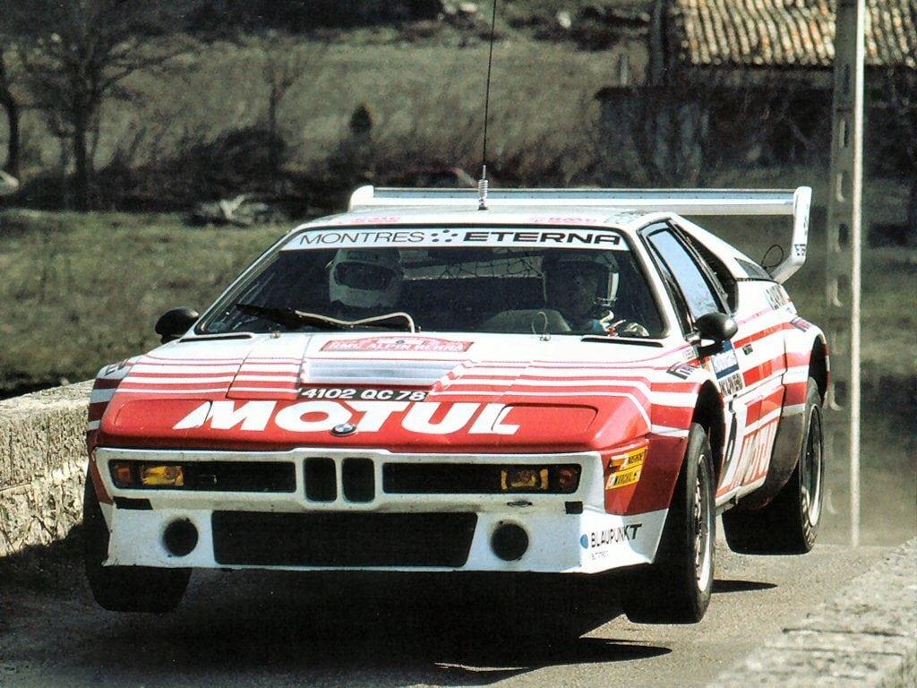BMW M1 пытались пристроить хоть в какие-нибудь гонки, поэтому несколько машин были переделаны под регламент раллийной группы В и даже выступили на Ралли Корсики несколько раз.