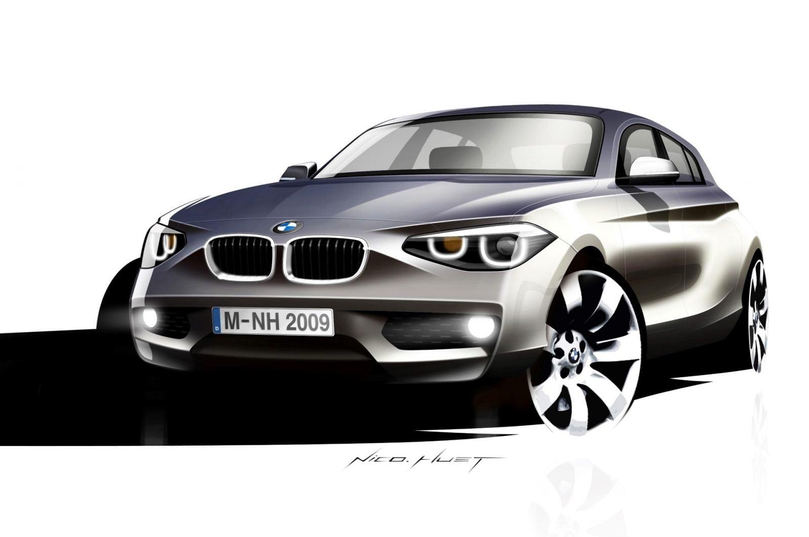 BMW 1 Series F20 2011 Design Sketches