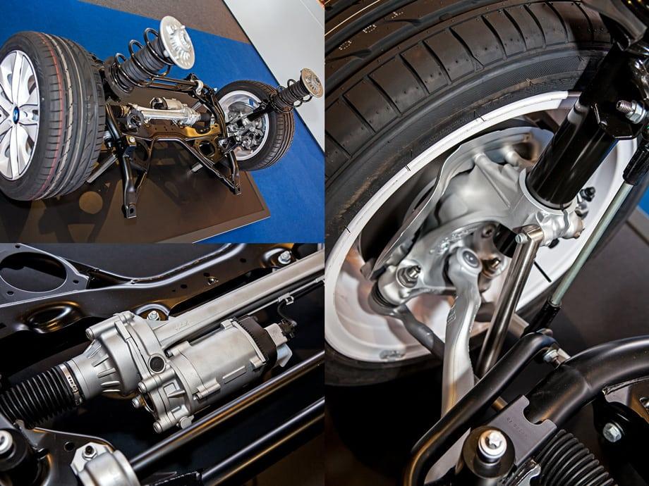 Все изменения шасси продиктованы двумя причинами: расширением колеи (+51 мм спереди и +72 мм сзади) и переходом на более мягкие шины Run Flat нового поколения.