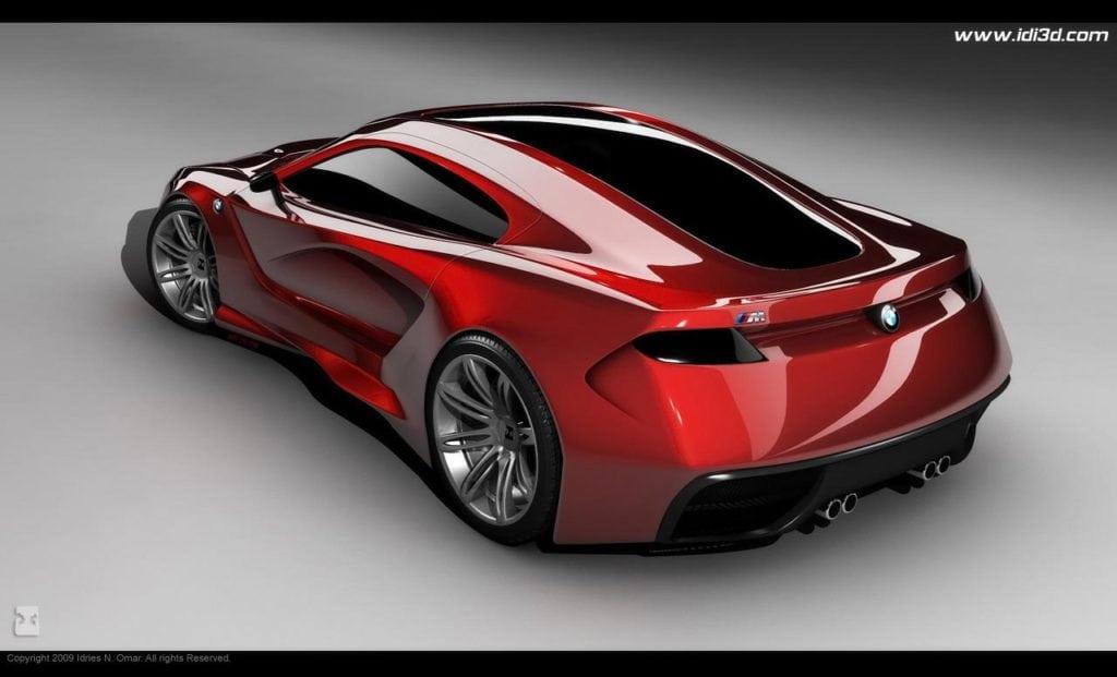 Один из рендеров BMW