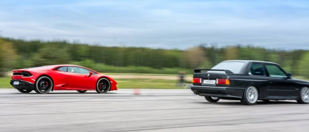 Гонка: BMW M3 E30 не оставил шансов Lamborghini Huracan LP580-2