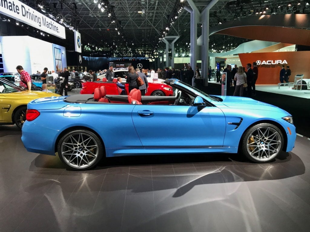 BMW M4 Convertible Yas Marina Blue Competition Package