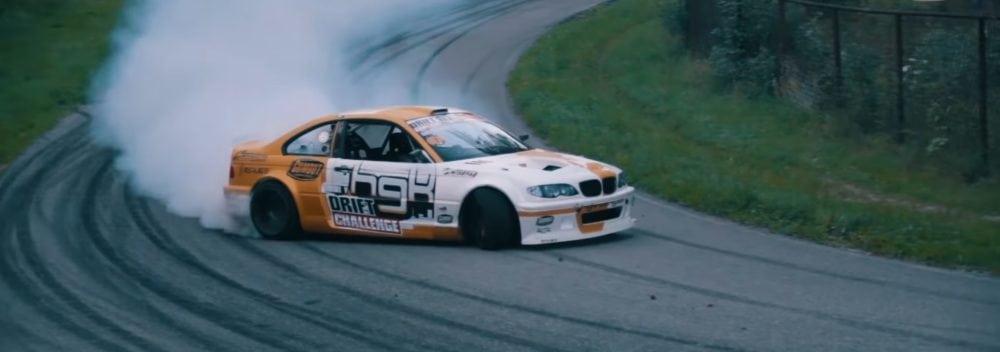 Скоростной дрифт по лесной трассе на BMW M3 E46