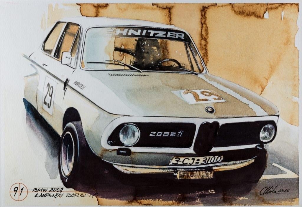 Сто лет истории BMW в 101 потрясающей картине румынского художника Адриана Миту