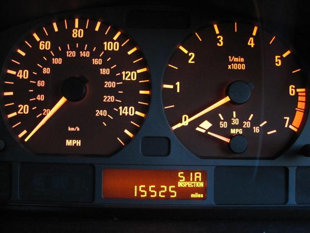 BMW 3 E46 сброс сервисного интервала Oil Service