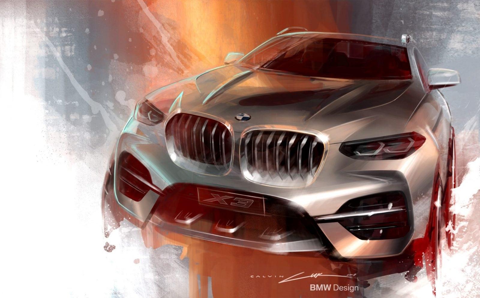 BMW X3 G01 2018 Design Sketches
