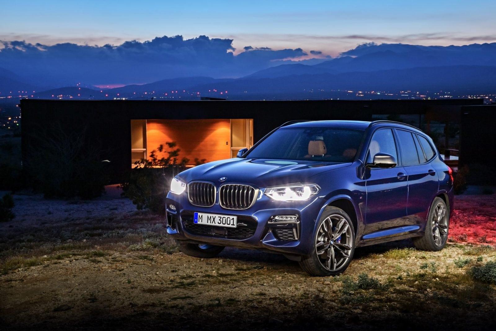 BMW X3 G01 2018 xDrive M40i Phytonic Blue Metallic With Leder Vernasca Cognac