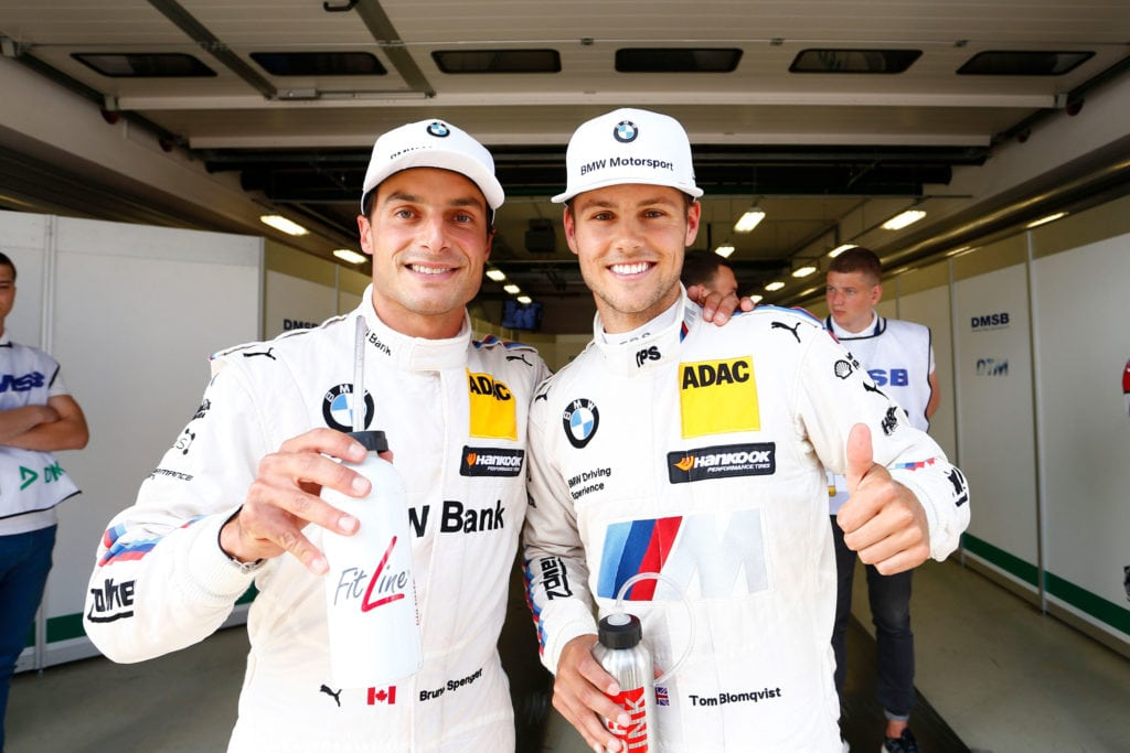 Bruno Spengler (CA) BMW M4 DTM и Tom Blomqvist (GB) BMW M4 DTM