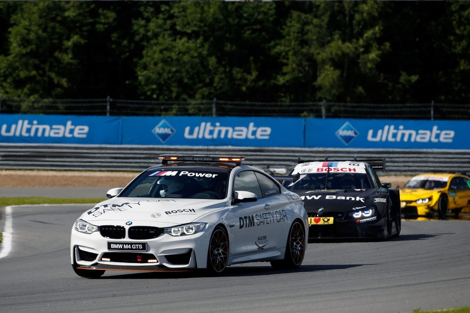 Moscow (RUS) 23th July 2017. BMW Motorsport, Race 10, BMW M4 GTS DTM Safety Car and Bruno Spengler (CAN) BMW Bank M4 DTM.