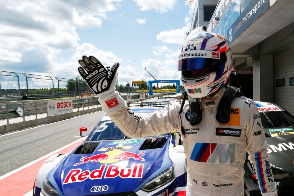 Tom Blomqvist (GB) BMW M4 DTM Том Бломквист показал лучшее время во второй квалификации на Moscow Raceway: