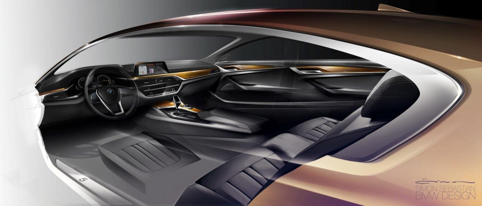 BMW 5 Series G30 2017 Design Sketches