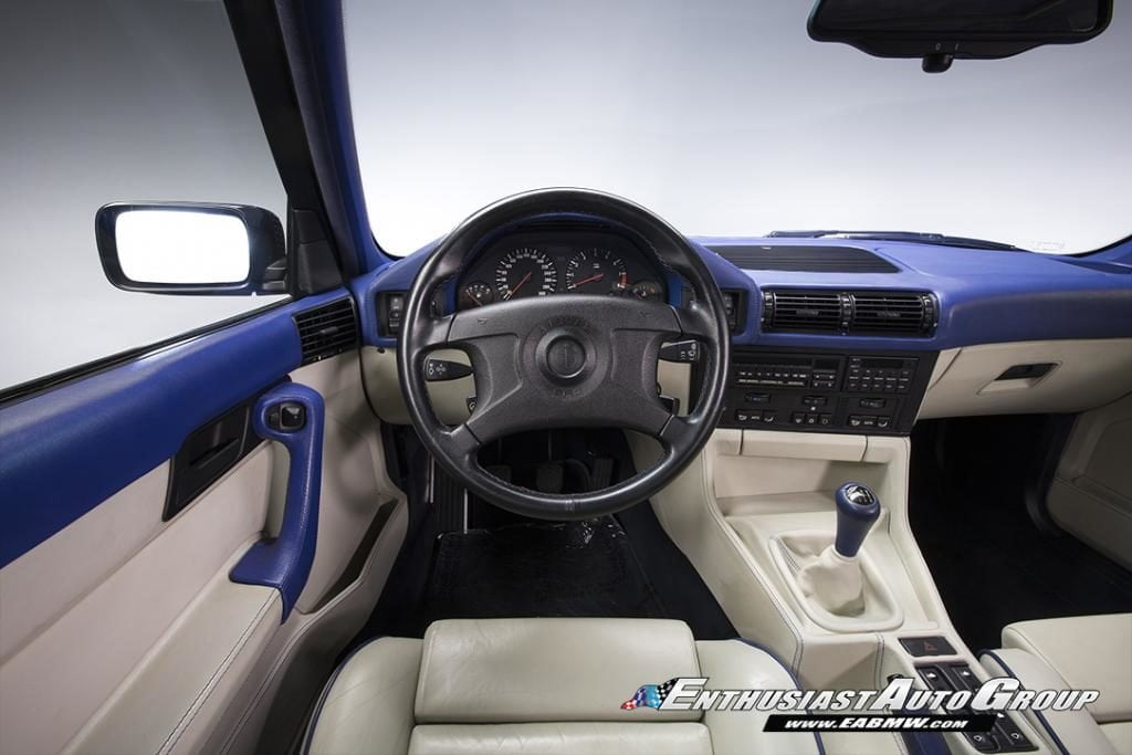 BMW M5 E34 Touring в цвете Santorini Blue