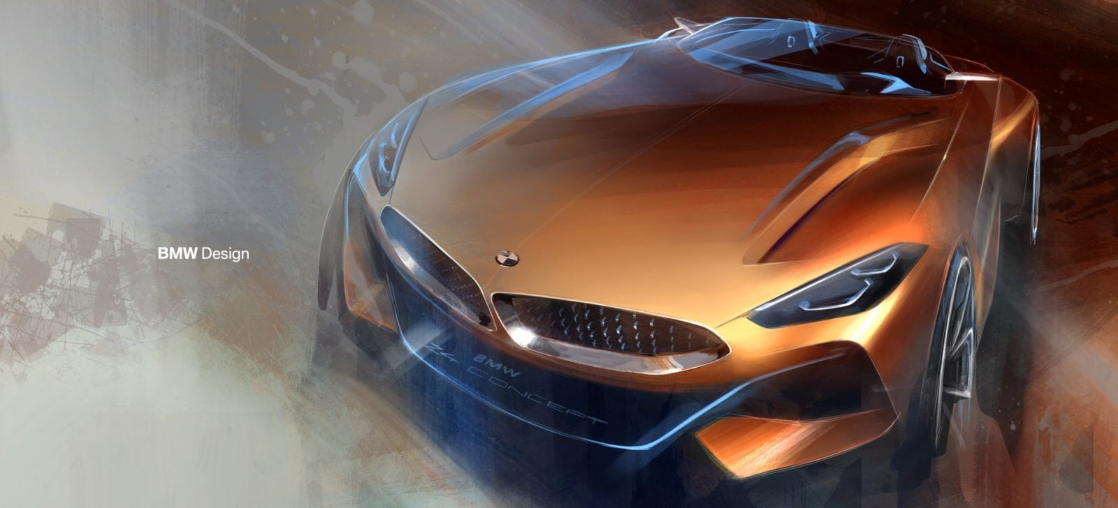 BMW Z4 Concept 2017 Design Sketches and Process