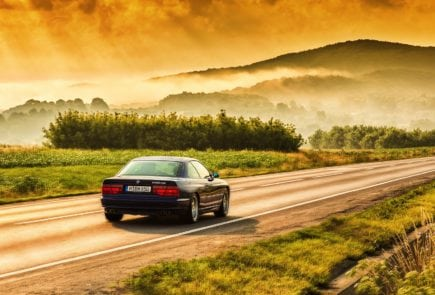 BMW 850 CSi on the Roads of Romania