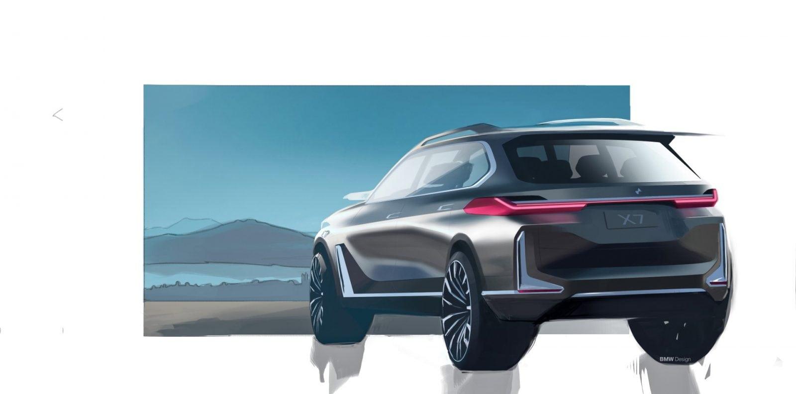 BMW Concept X7 iPerformance 2017 Design Sketches