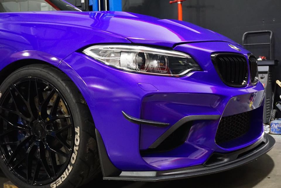 RevoZport BMW M2 Raze в сумасшедшем фиолетовом цвете от Impressive Wrap