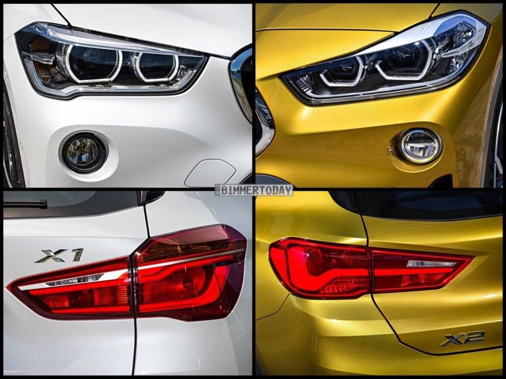 Сравнение фото BMW X1 F48 xLine vs X2 F39 M-Sport X