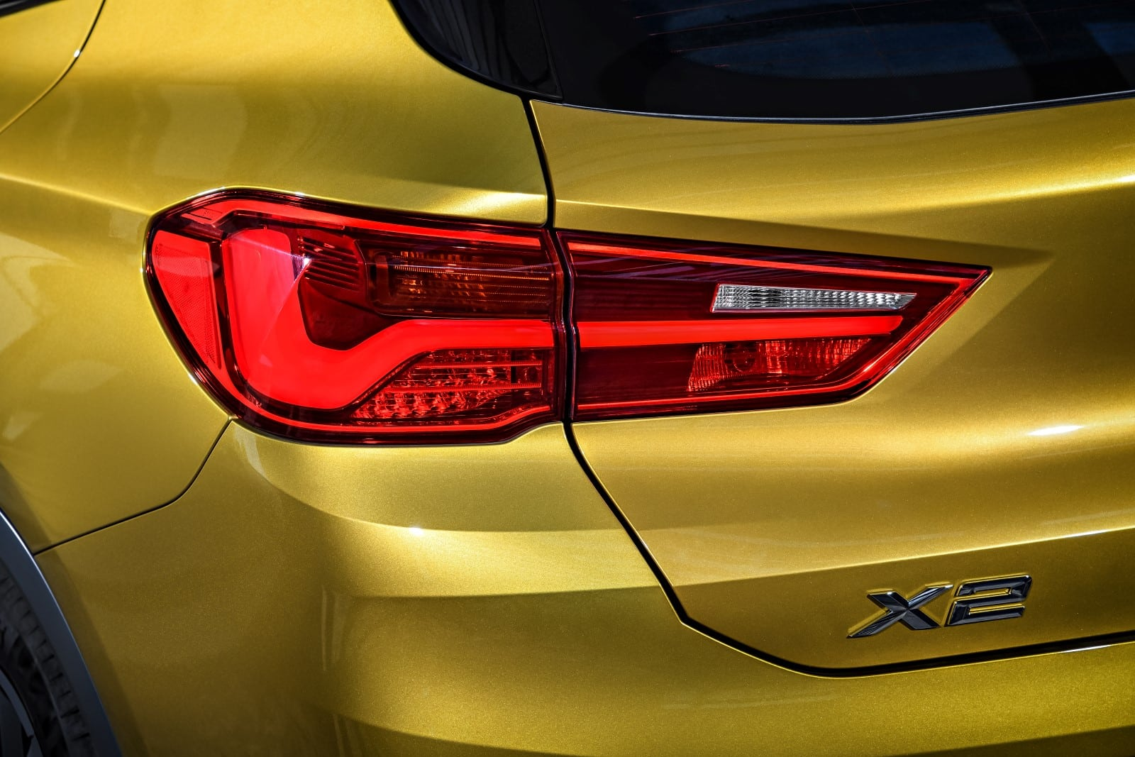BMW X2 2018 Exterior and Interior Yellow