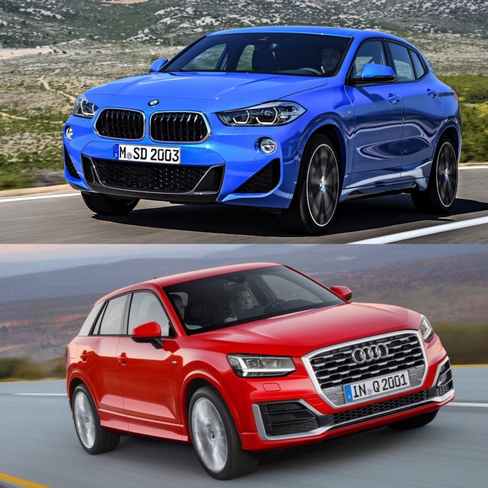 Сравнение фото BMW X2 vs Audi Q2