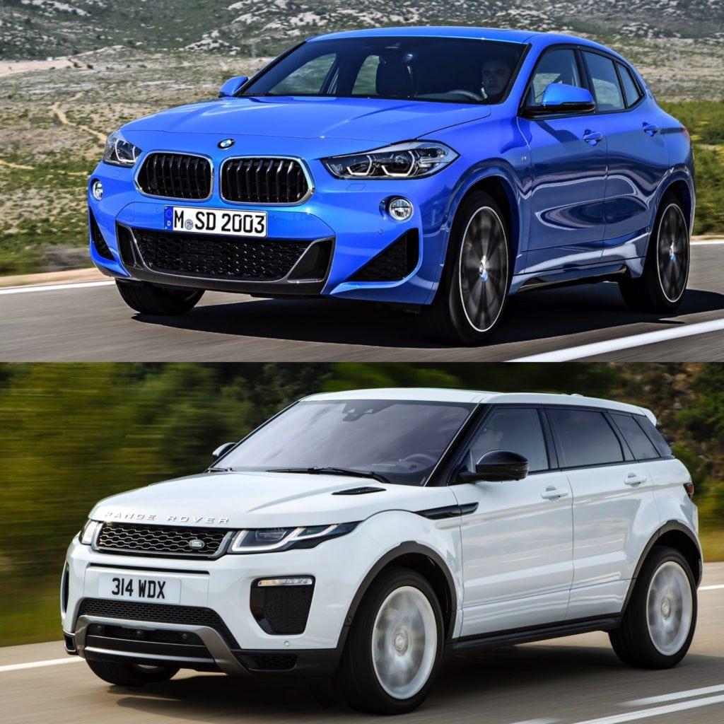 Сравнение фото BMW X2 vs Range Rover Evoque