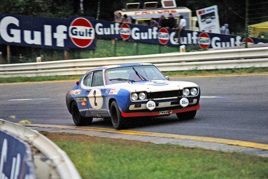 Hans-Joachim Stuck/Jochen Mass за рулем Capri RS 2600 на своем пути к победе в 24 часах Спа 1972 года. Credit: Ford.
