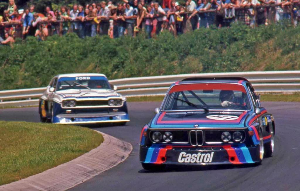 1000Km Nurburgring 1974 год. Hans Stuck на BMW CSL 3.5 vs Niki Lauda на Ford Capri RS 3100. Фото: pinterest.com
